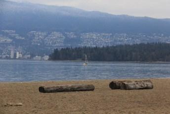Empty beach in late winter