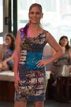 Sheath Dress with Cowl   Byzantine