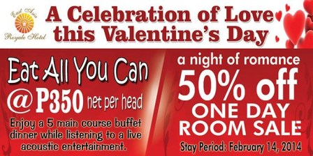 EAST ASIA ROYALE HOTEL, VALENTINES DAY