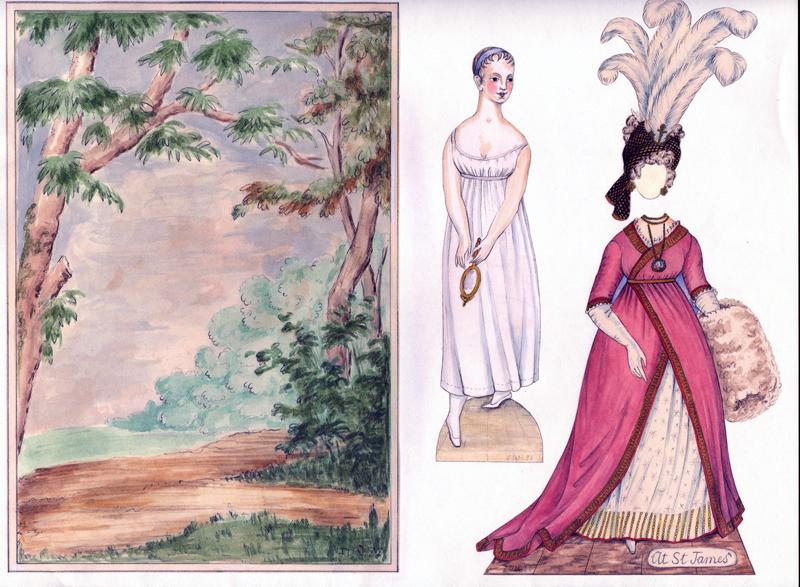 Free Clip Art and Digital Collage Sheet - Vintage Paper Dolls