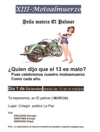 XIII Motoalmuerzo Peña Motera El Palmar - Murcia