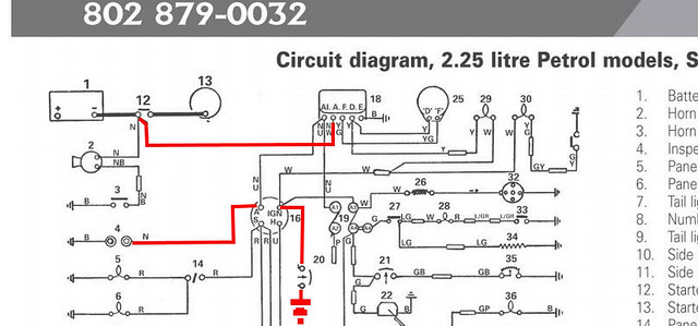 land rover series 2a wiring loom diagram