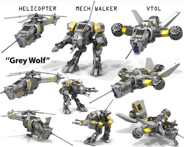 """Grey Wolf"" VTOL/Mech Walker/Helicopter"