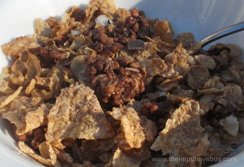 Post Honey Bunches of Oats Morning Energy Chocolatey Almond Crunch Cereal Wet