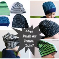 Free Knit Beanie Hat Sewing Patterns - Tested!