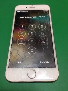 115_iPhone6のフロントパネルガラス割れ