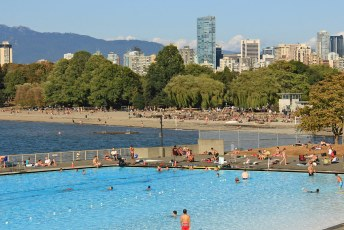 Kits Pool in summer