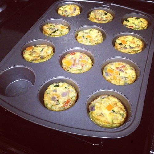 A little fun in the kitchen tonight. Delicious mini frittatas. I know because I just tested that missing one.