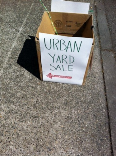 Urban yard sale