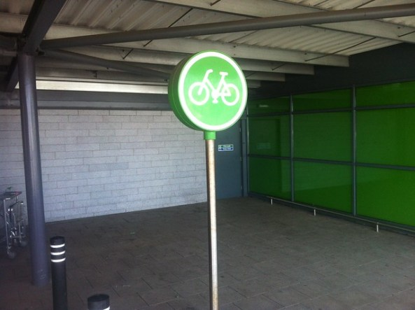Lost bike parking ASDA Western Harbour
