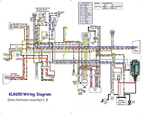 2008 kawasaki 650 klr wiring diagram