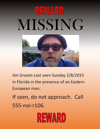 Missing-Jim Groom Prose of a Pumpkin Farmer - make a missing poster