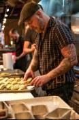 Chef prepares tamales