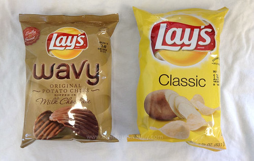 Limited Edition Lay's Wavy Original Potato Chips Dipped in Milk Chocolate Bag Size