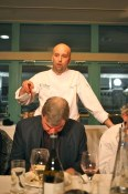 Chef Lorenzo Loseto of Toronto's George introducing a dish at the Canadian Culinary Championships