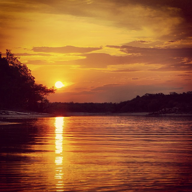 #Sunset in the #Amazon #Brazil #travelpics #ttot #travel
