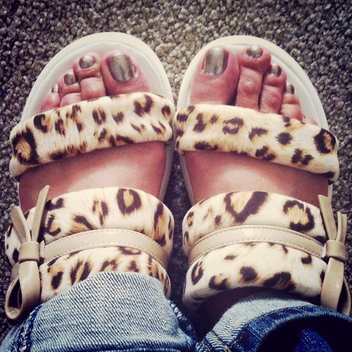 New pedi with new slippers