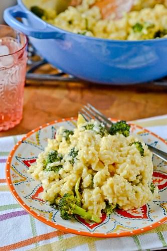 Broccoli-Cheddar Oven Risotto-12