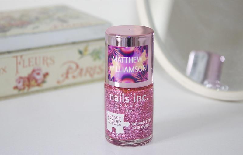 Nails Inc Pinkie Pink Glitter Nail Polish Milly Naomi