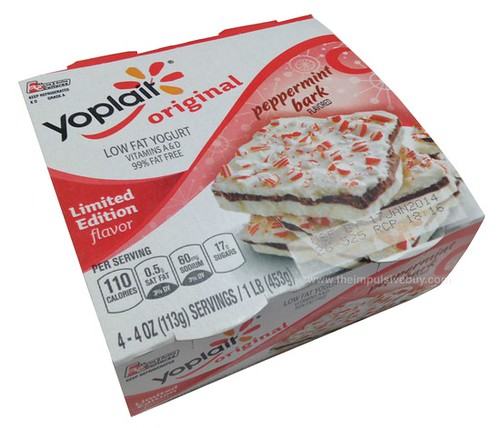 Yoplait Original Limited Edition Peppermint Bark Yogurt