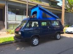 The ride, a heavily modified 1991 Vanagon Westfalia