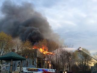 Fire at Sherman Ave, Glens Falls, NY
