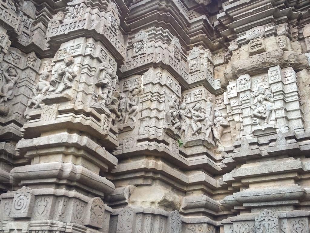 Erotic carvings on the Daitya Sudan Temple, Lonar