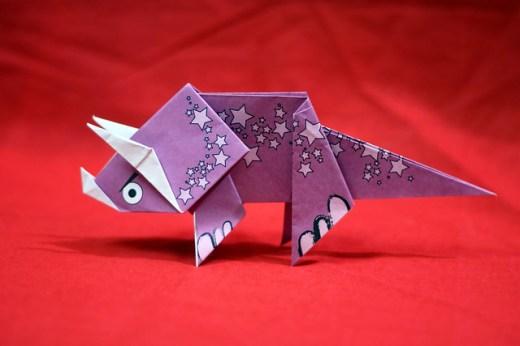 Dinosaur + Origami = Dinogami!