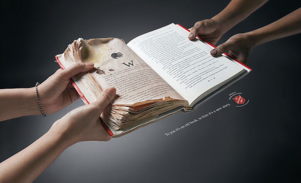 The Salvation Army Old Book Donation - Hands 1