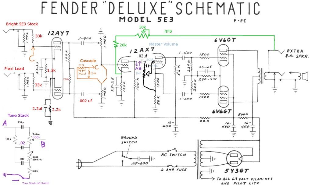 fender mustang schematic