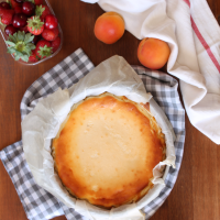 Tarta de queso rústica