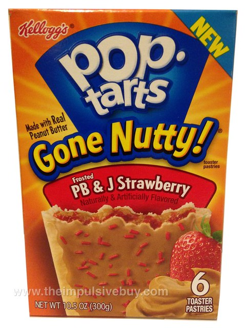 Kellogg's Pop-Tarts Gone Nutty Frosted PB & J Strawberry