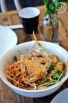 Coconut Chicken and Crispy Egg Noodle