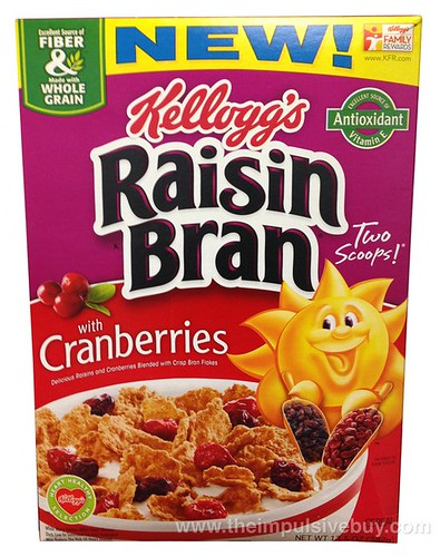 Kellogg's Raisin Bran with Cranberries Cereal