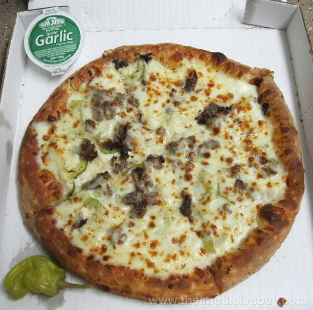 Papa John's Philly Cheesesteak Pizza
