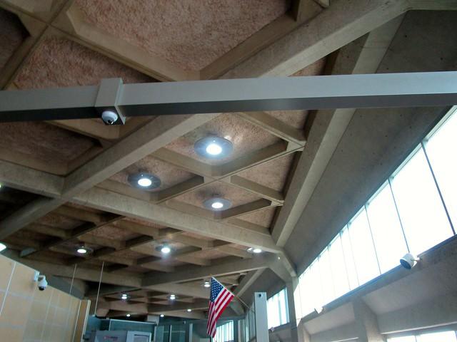 Brutalist Ceiling at Kansas City MO Aiirport