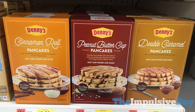 Denny's Pancake Mixes (Cinnamon Roll, Peanut Butter Cup, and Double Caramel)