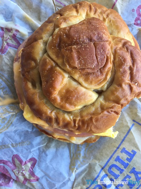 Carl's Jr. Pretzel Breakfast Sandwich 2