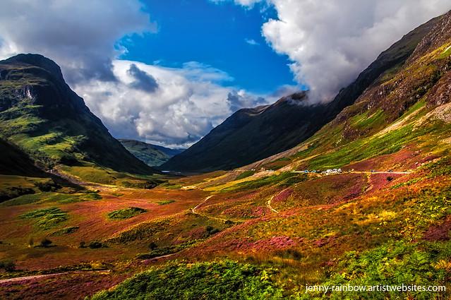 Fall Farm Wallpaper The Valley Of Three Sisters Glencoe Scotland Flickr