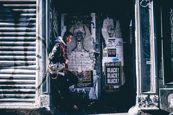 Chanel Graffiti Backpack worn by Bryanboy