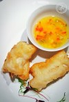 Snapper Rolls with Pineapple and Capsicum Sauce