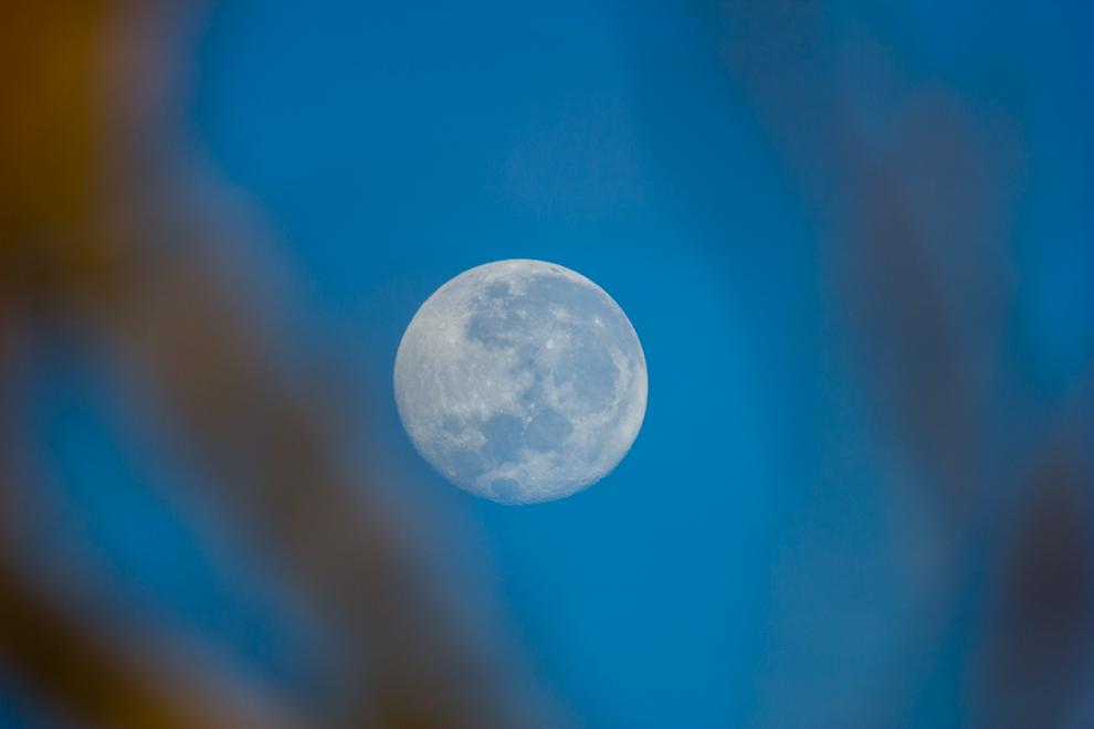 La luna se escondía en el horizonte en las primeras horas de la mañana, mientras iniciábamos nuestro recorrido de 60 kilómetros por caminos de tierra, desde el pueblo de Paso Los Pioneros. (Tetsu Espósito).