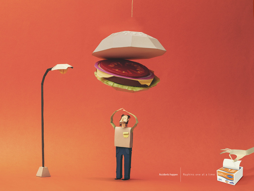 Familia Institucional Napkins - Accidents happen Burger