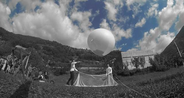 ballon helium cendres
