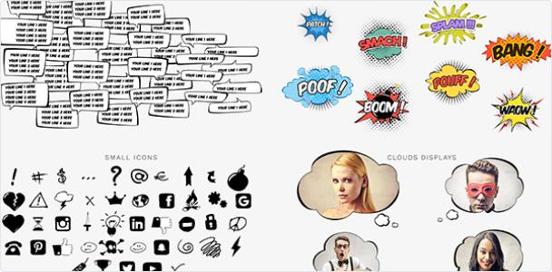 Preview_Project Comics Bubbles Speech Kit 1