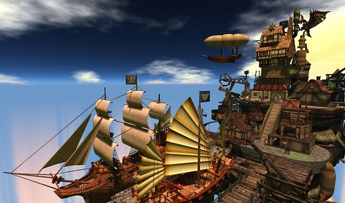 Airship Pirate Town