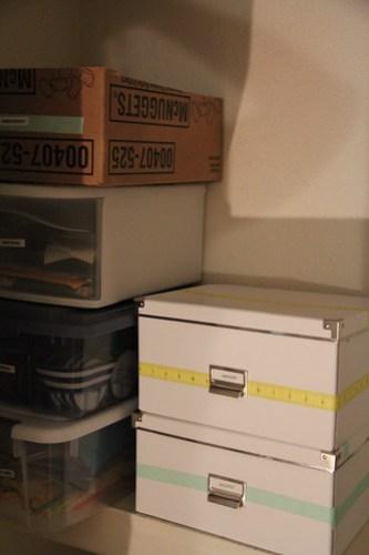 Ikea box organization