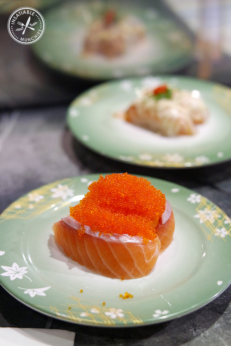 Salmon and Flying Fish Roe Sushi, from Sushi Rio in Bondi Junction