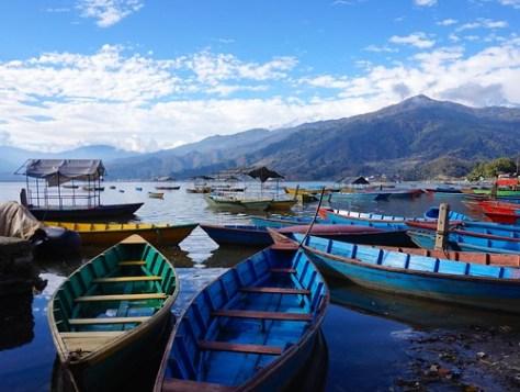 Phewa (Fewa) Lake Pokhara Nepal