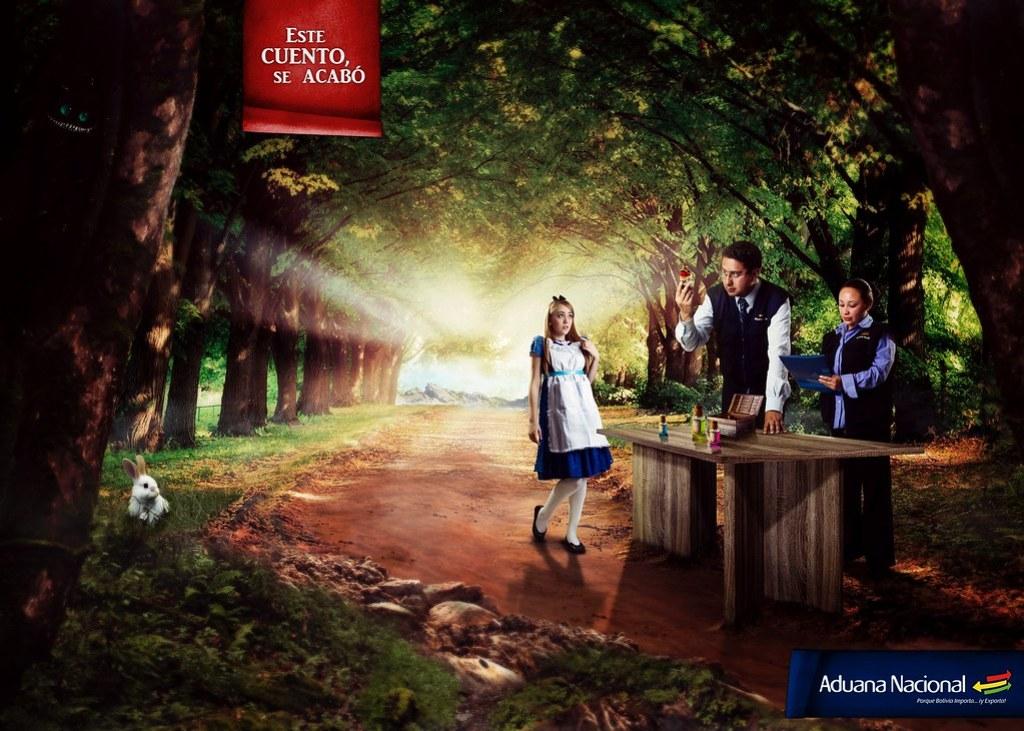 Aduana Nacional de Bolivia - This story ends here Alice Wonderland